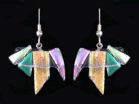 Dichroic Earrings.
