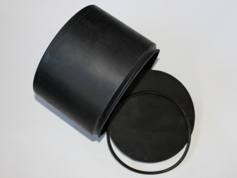 Large Rubber Drum 2000gm Open