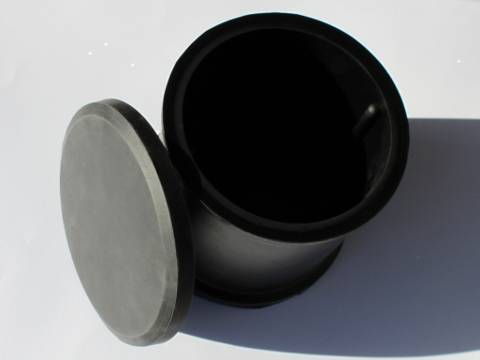Large Rubber Drum With Vanes Open